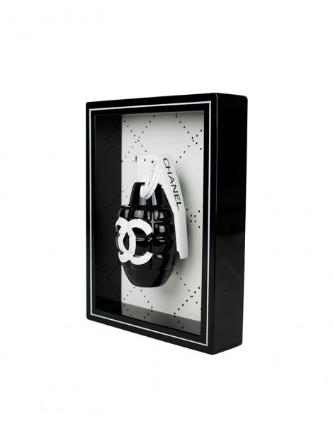 Black Chanel Art Grenade Side.
