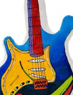 Electric Guitar Close-Up.