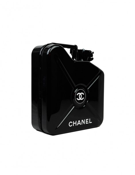 Black Chanel Jerrycan Side.