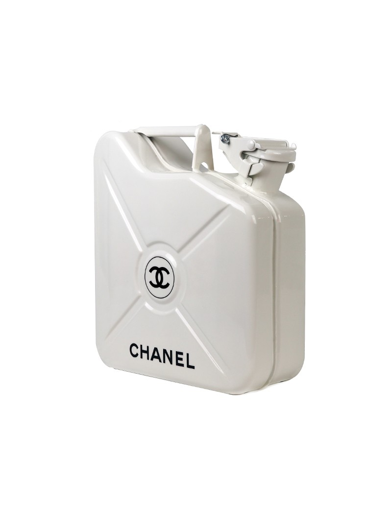 White Chanel Jerrycan Side.