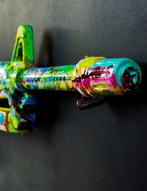 Colourful Gun Up-Close.