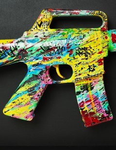 Colourful Gun Details.