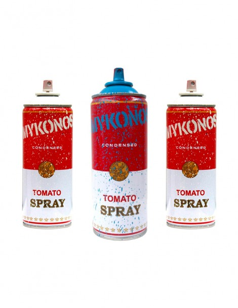 Mykonos Spray Cans.