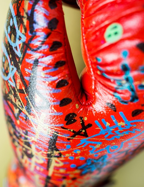 Boxing Gloves Close-Up.