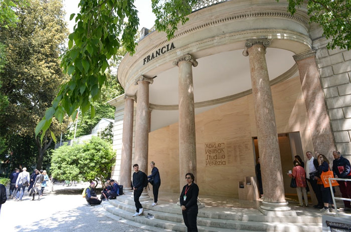 The French Pavilion at the 57th Venice Biennale.