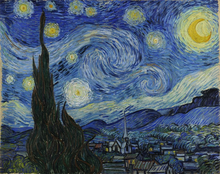 Vincent Van Gogh, Starry Night (1889).