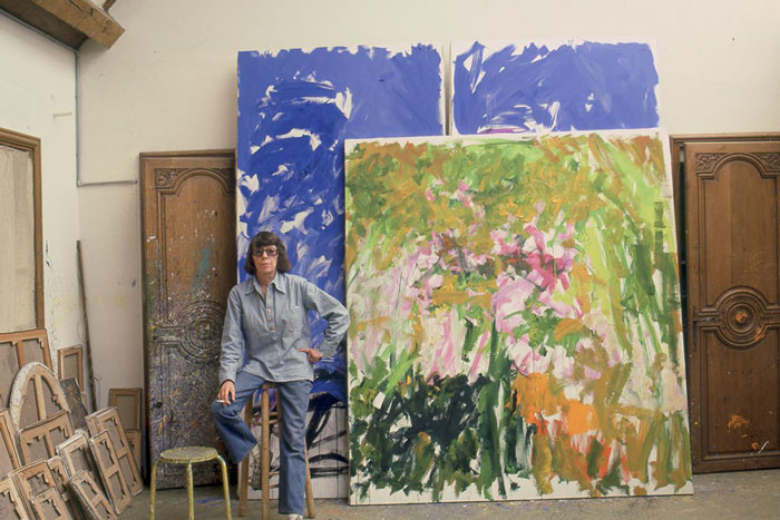 Joan Mitchell in her Vétheuil studio.
